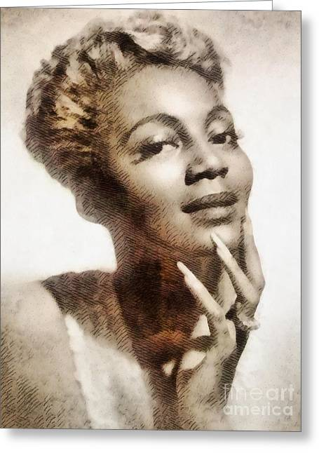 Joyce Bryant, Vintage Singer And Actress Greeting Card by John Springfield