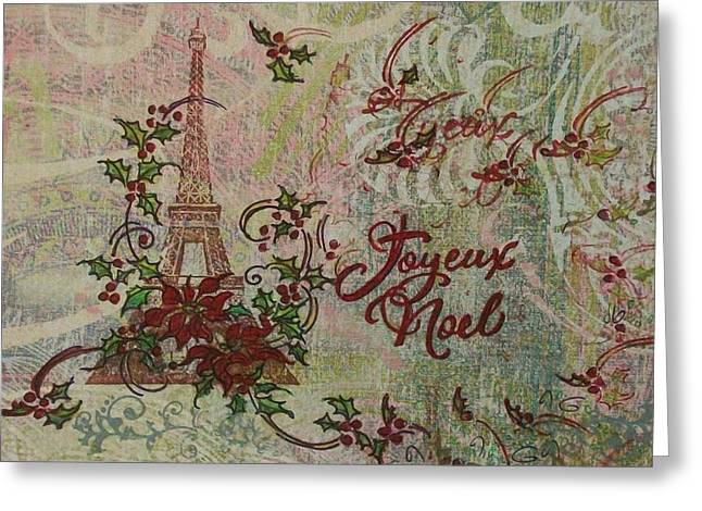 Joyeux Noel Greeting Card by Gail Kent
