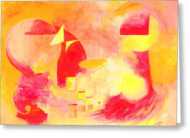 Joyful Abstract Greeting Card