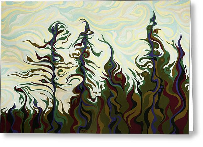 Joyful Pines, Whispering Lines Greeting Card