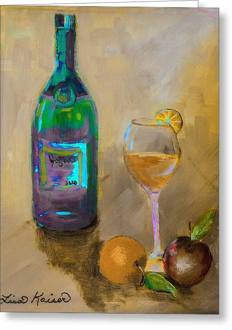 Joyous Champagne Orange Painting Greeting Card