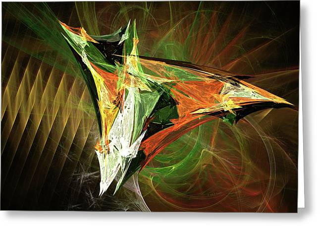 Jpk Digital Abstract 002 Greeting Card