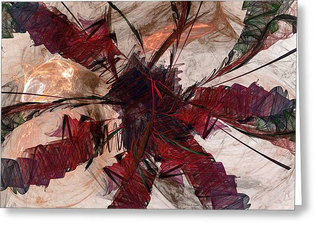 Jpk Digital Abstract 004 Greeting Card