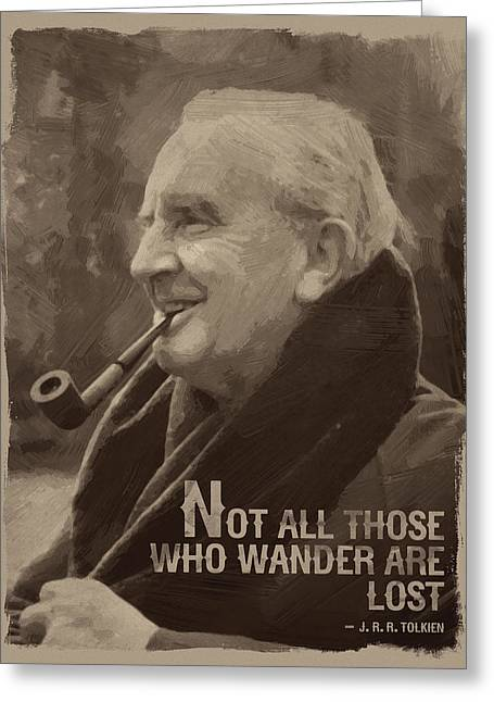 J.r.r. Tolkien Quote Greeting Card by Afterdarkness
