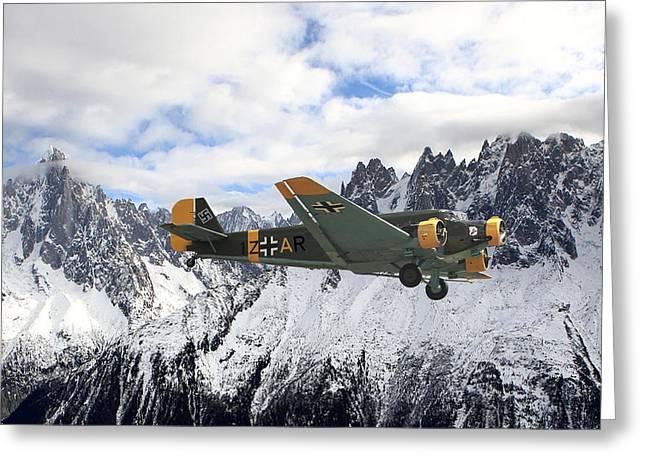 Ju52 - Alpine Passage Greeting Card