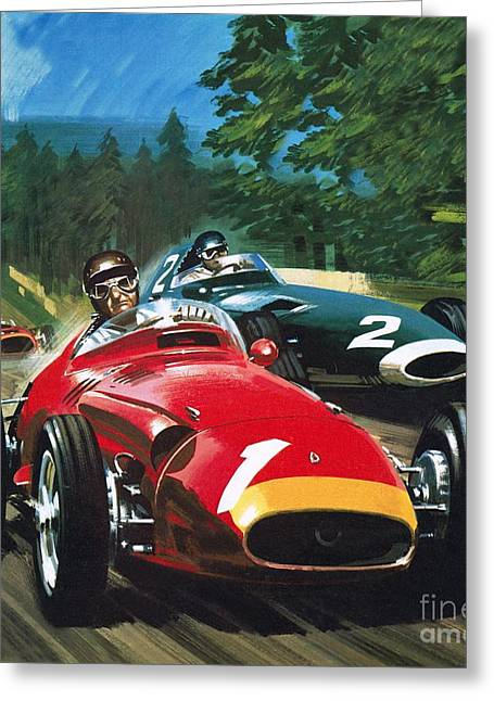 Juan Manuel Fangio Greeting Card