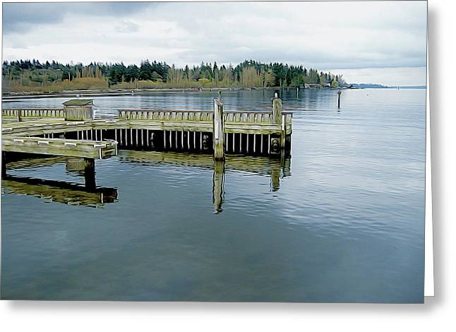 Juanita Bay In Gray Greeting Card