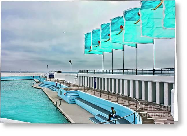 Jubilee Pool Penzance Greeting Card