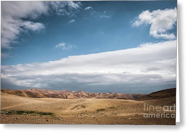 Judaea Desert, Greeting Card by Dan Yeger