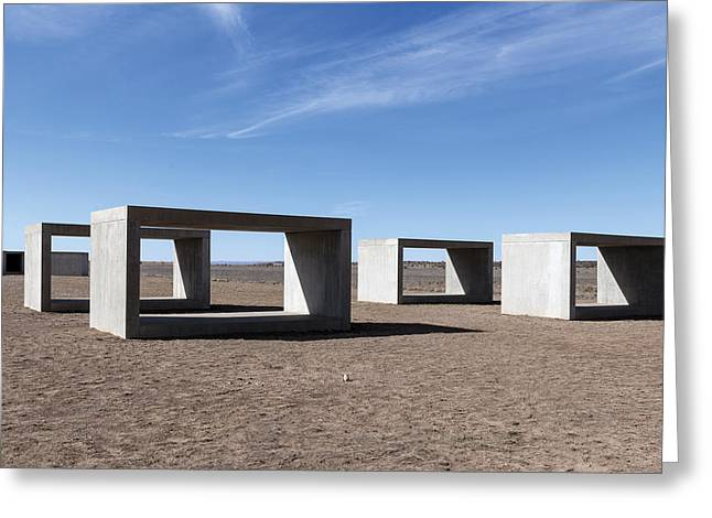 Judd's Cubes By Donald Judd In Marfa Greeting Card by Carol M Highsmith