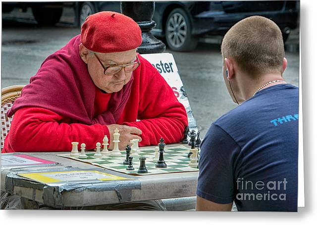 Jude Acers Chess Master Greeting Card by Jerry Fornarotto