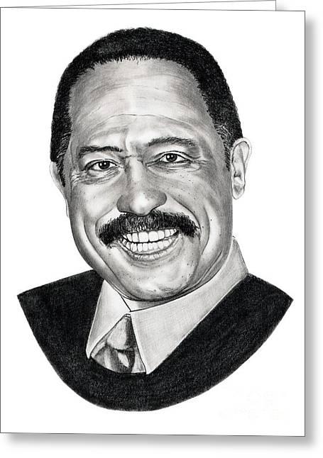 Judge Joe Brown Greeting Card by Murphy Elliott