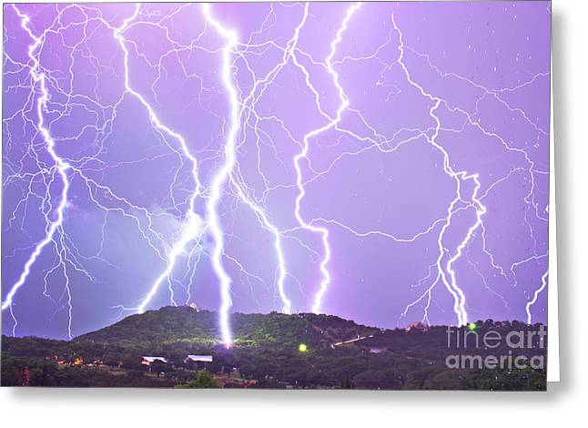 Judgement Day Lightning Greeting Card