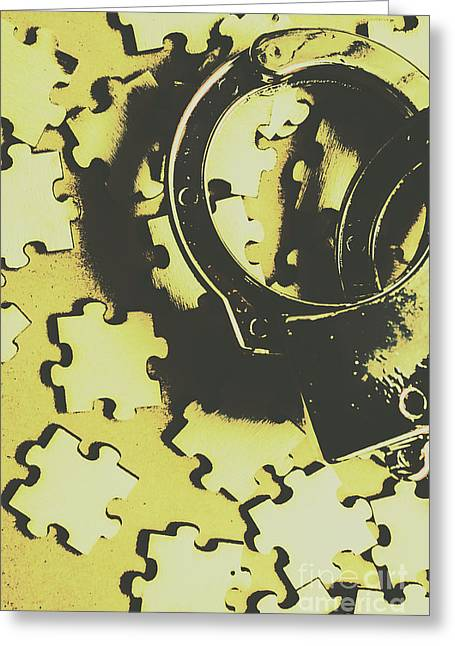 Judicial Jigsaw Greeting Card by Jorgo Photography - Wall Art Gallery