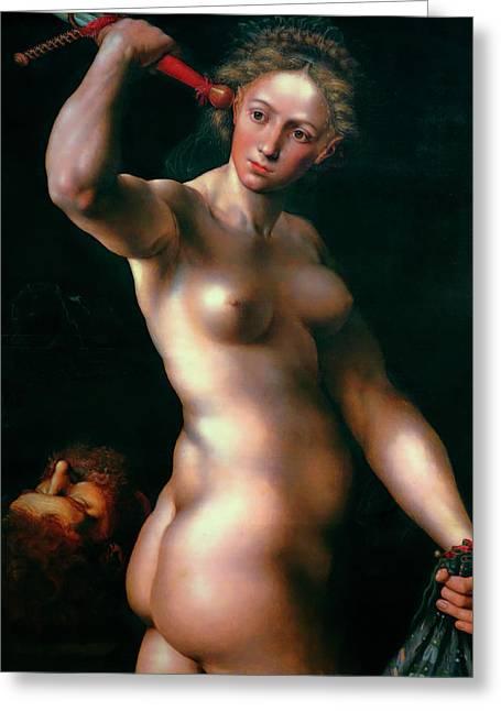 Judith 1540 - Jan Sanders Van Hemessen - Netherlands Greeting Card by Daniel Hagerman