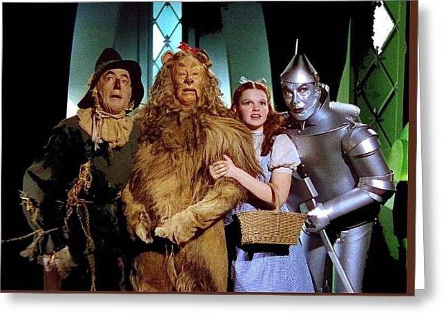 Judy Garland And Pals The Wizard Of Oz 1939-2016 Greeting Card