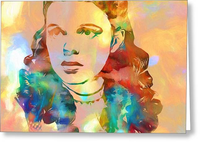 Judy Garland Tribute Greeting Card by Dan Sproul