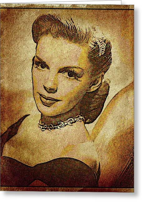 Judy Garland Vintage Hollywood Actress Greeting Card by Esoterica Art Agency