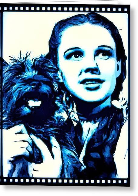Judy Garland Wizard Of Oz Dorothy Greeting Card