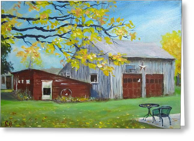 Judy's Barn Greeting Card by Carol Hart