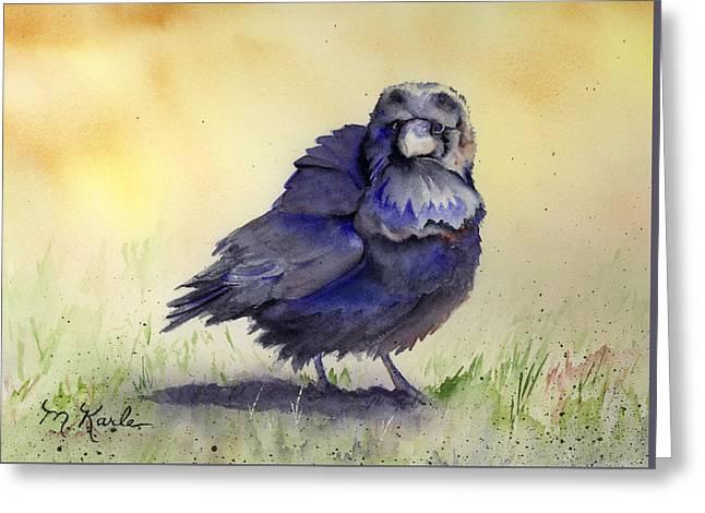 Judy's Raven Greeting Card