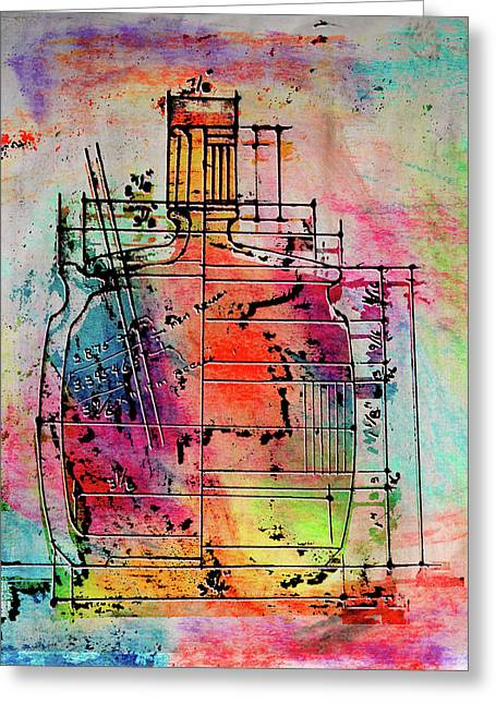 Jug Drawing Greeting Card by Don Gradner