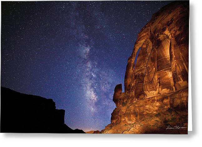 Jug Handle Arch And The Milky Way Greeting Card