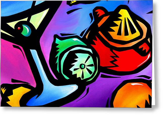 Juicing - Abstract Pop Art By Fidostudio Greeting Card