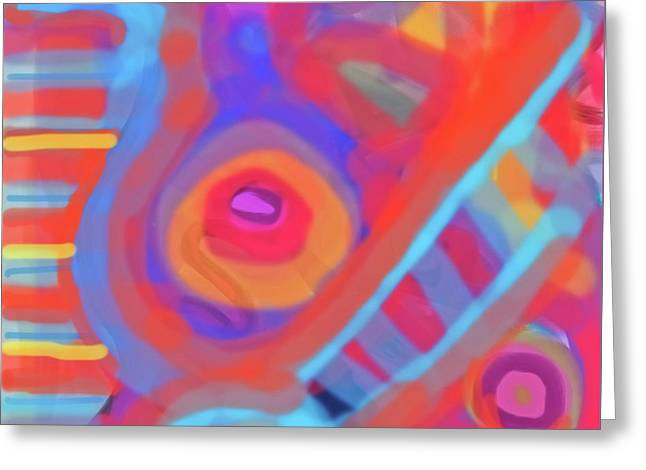 Greeting Card featuring the painting Juicy Colored Abstract by Susan Stone