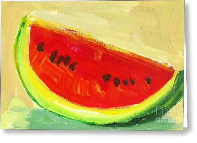 Juicy Watermelon - Kitchen Decor Modern Art Greeting Card