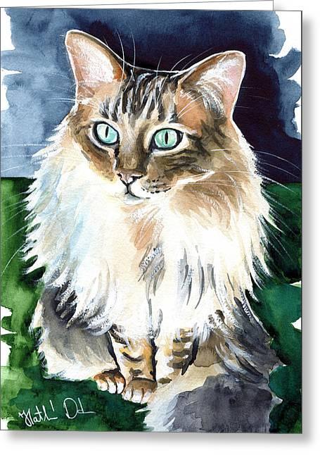 Juju - Cashmere Bengal Cat Painting Greeting Card