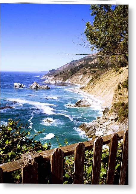 Greeting Card featuring the photograph Julia Pfiffer Burns Coast by Gary Brandes