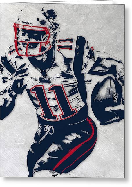 Julian Edelman New England Patriots Pixel Art 4 Greeting Card