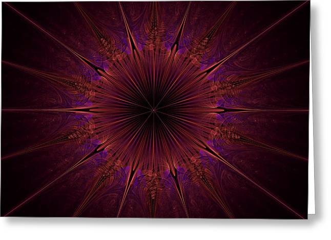 The Violet Blessings Of The Crown Chakra Greeting Card