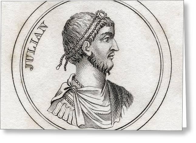 Julian The Apostate Flavius Claudius Greeting Card by Vintage Design Pics