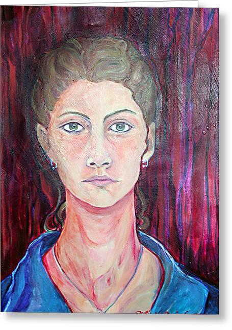 Julie Self Portrait Greeting Card