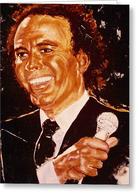 Crooner Greeting Cards - Julio Iglesias Greeting Card by Shaktima Brien