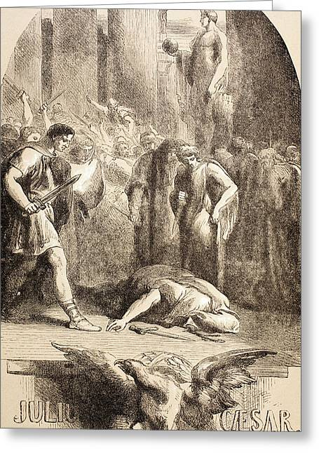 Julius Caesar Greeting Card by John Gilbert