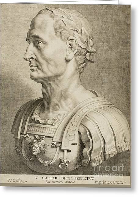 Julius Caesar Greeting Card by Roman School