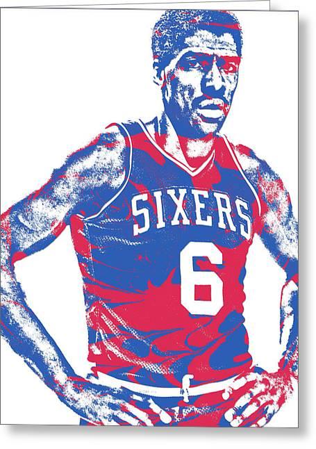 Julius Erving Philadelphia Sixers Pixel Art 1 Greeting Card