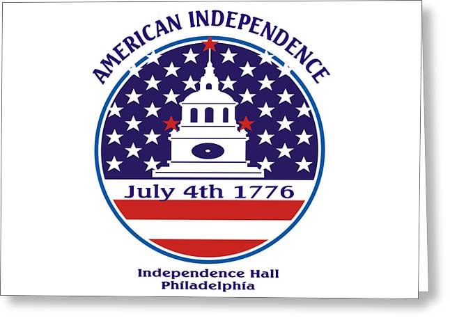 July 4th 1776 - American Independence Day Design Greeting Card