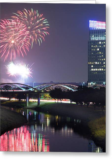July Fourth Fort Worth 041017 Greeting Card by Rospotte Photography