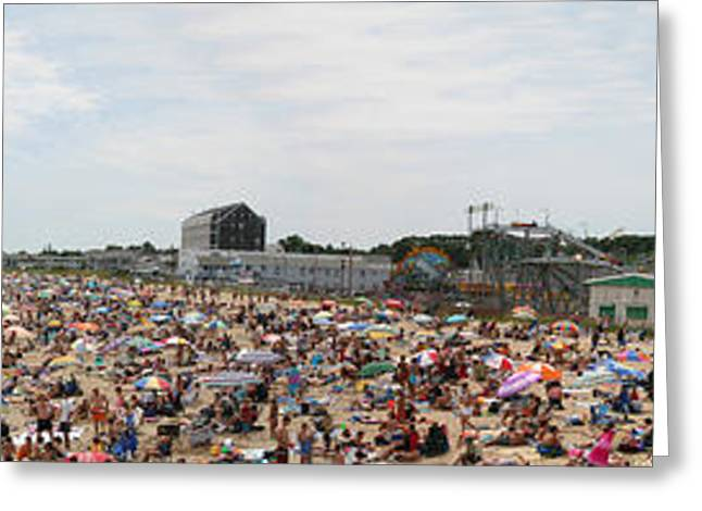 Greeting Card featuring the photograph July Fun At Old Orchard Beach by David Bishop