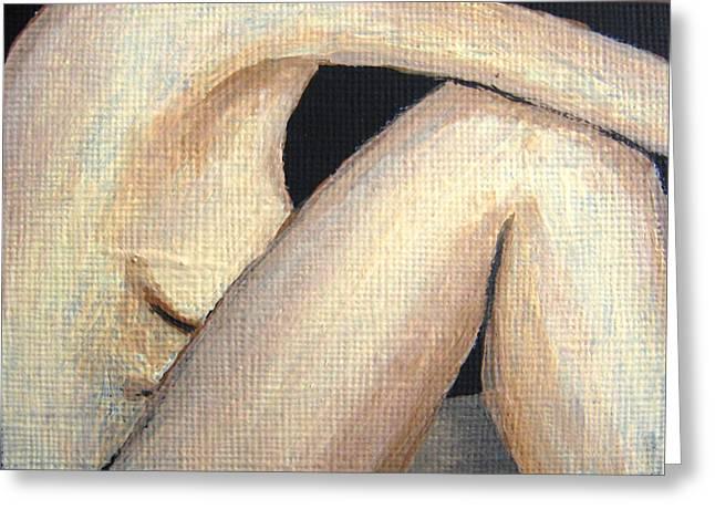 July Nude Greeting Card by Deborah Rosier