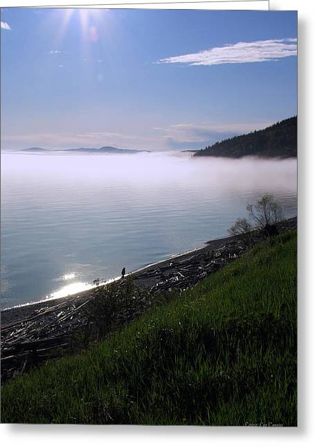 July Stroll On Lake Superior Greeting Card by Laura Wergin Comeau