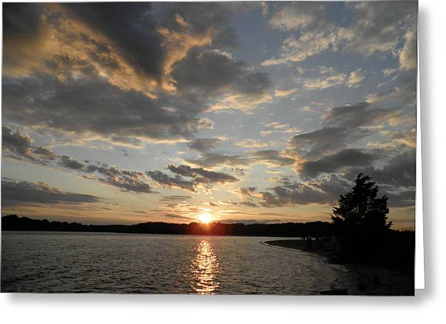 July Sunset Greeting Card by Kate Gallagher