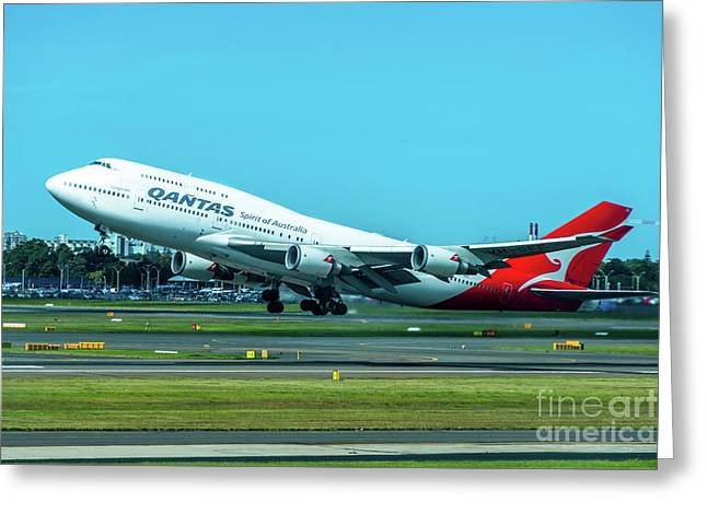 Jumbo Jet Greeting Card by Andrew Michael