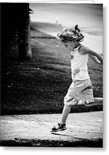 Jump In Greeting Card by Maggie Terlecki