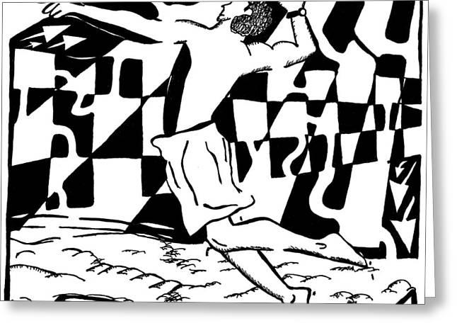 Jump Maze Greeting Card by Yonatan Frimer Maze Artist