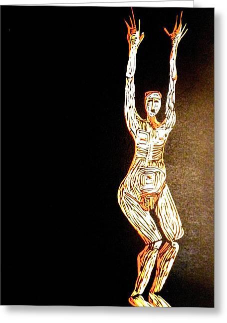 Jump Greeting Card by Patricia Bigelow